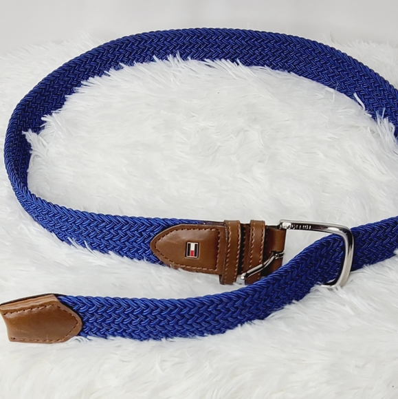 Tommy Hilfiger braided style blue belt Small 32-34